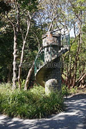 spiral staircase tower in clyne park