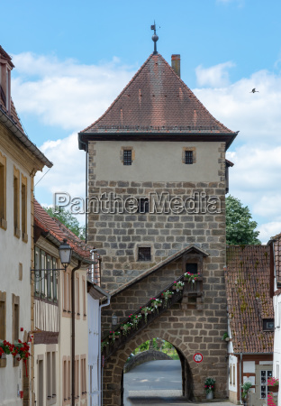 historic city gate of sesslach
