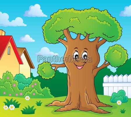 cheerful tree theme image 2
