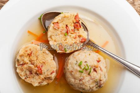 bacon dumplings in the soup