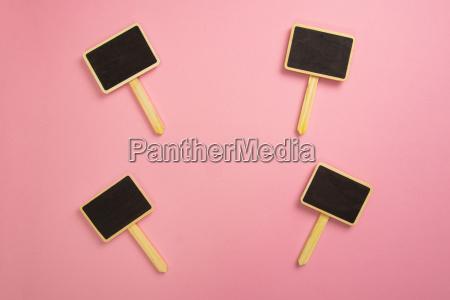 four little chalkboards