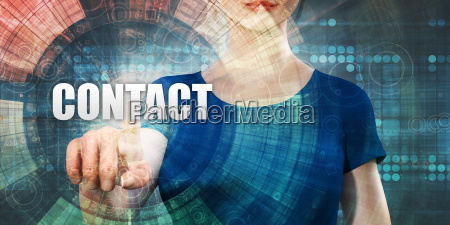 woman accessing contact