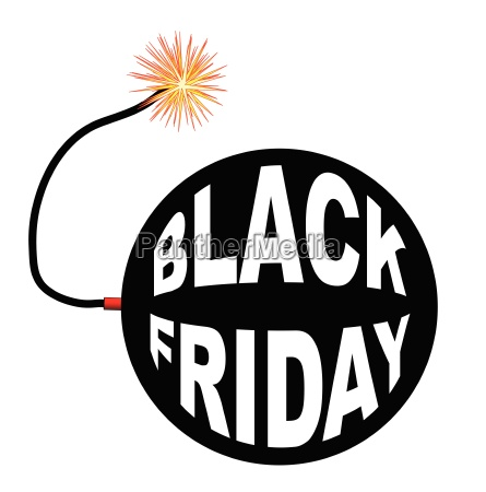 black friday bomb and lit fuse