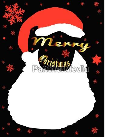 merry christmas father christmas beard