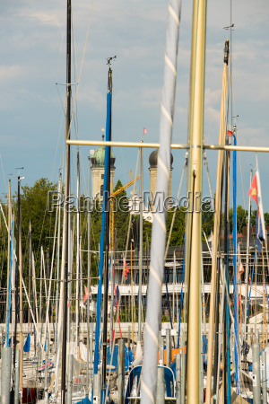 countless sailing masts in the marina