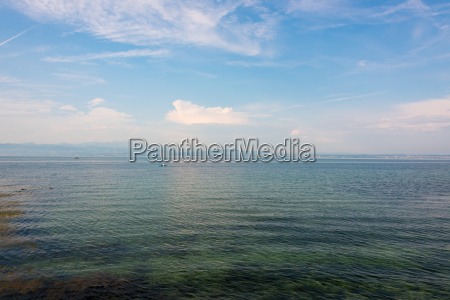 extreme wide angle view over lake