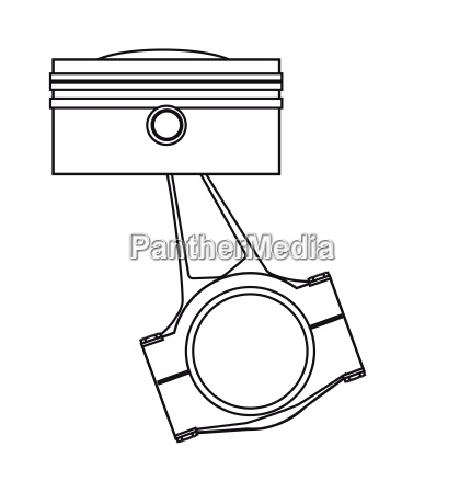 ungine piston outline drawing