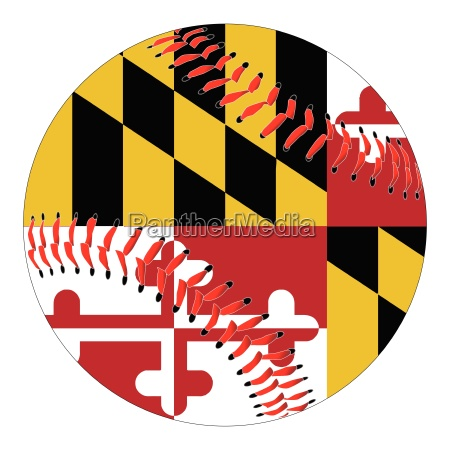 maryland flag baseball