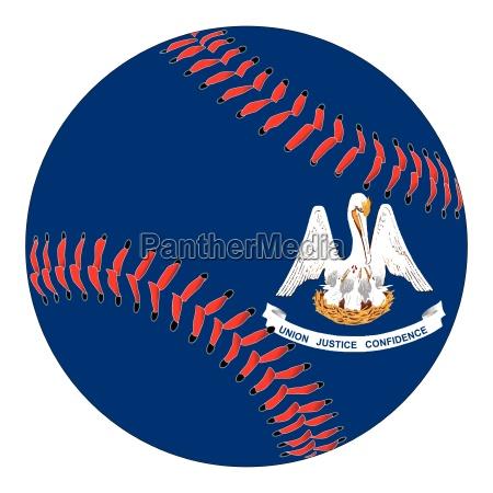lousisana flag baseball
