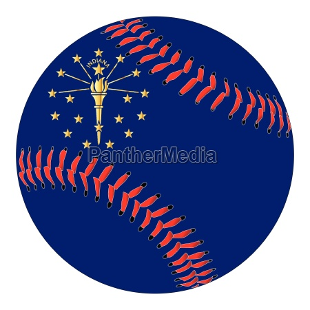 indiana flag baseball