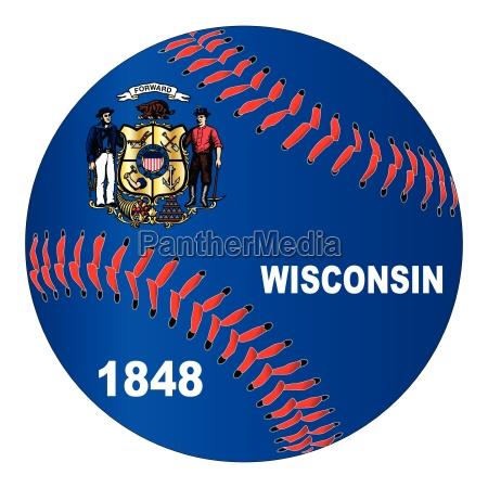 wisconsin flag baseball