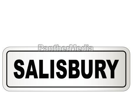 salisbury city nameplate