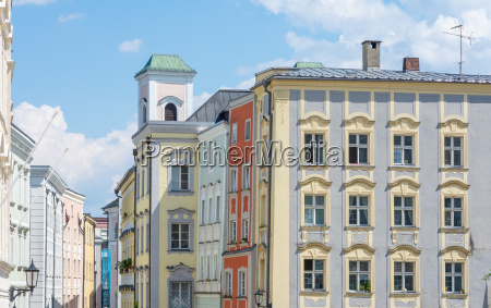 historic house facades in passau