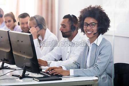 portrait of a female customer service