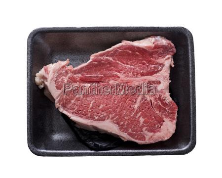 t bone steak isolated on white