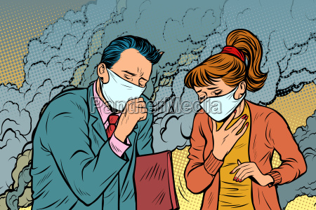 polluted air man and woman bad