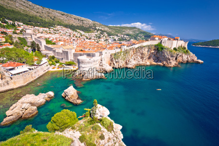 medieval town of dubrovnik with famous