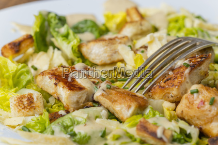 overview of a cesar salad on