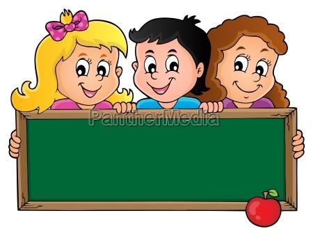 children holding schoolboard theme 1