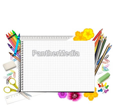 concept back to school with notepad