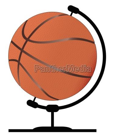 mounted basketball on rotating swivel
