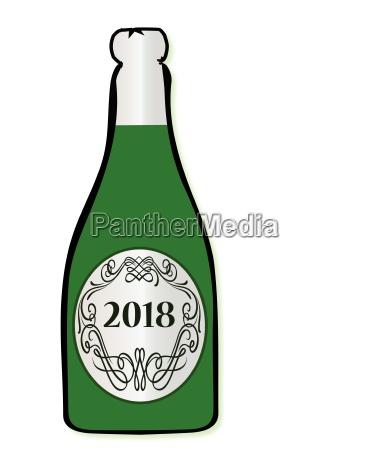 2018 celebration wine bottle
