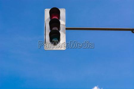 traffic light and a surveillance camera