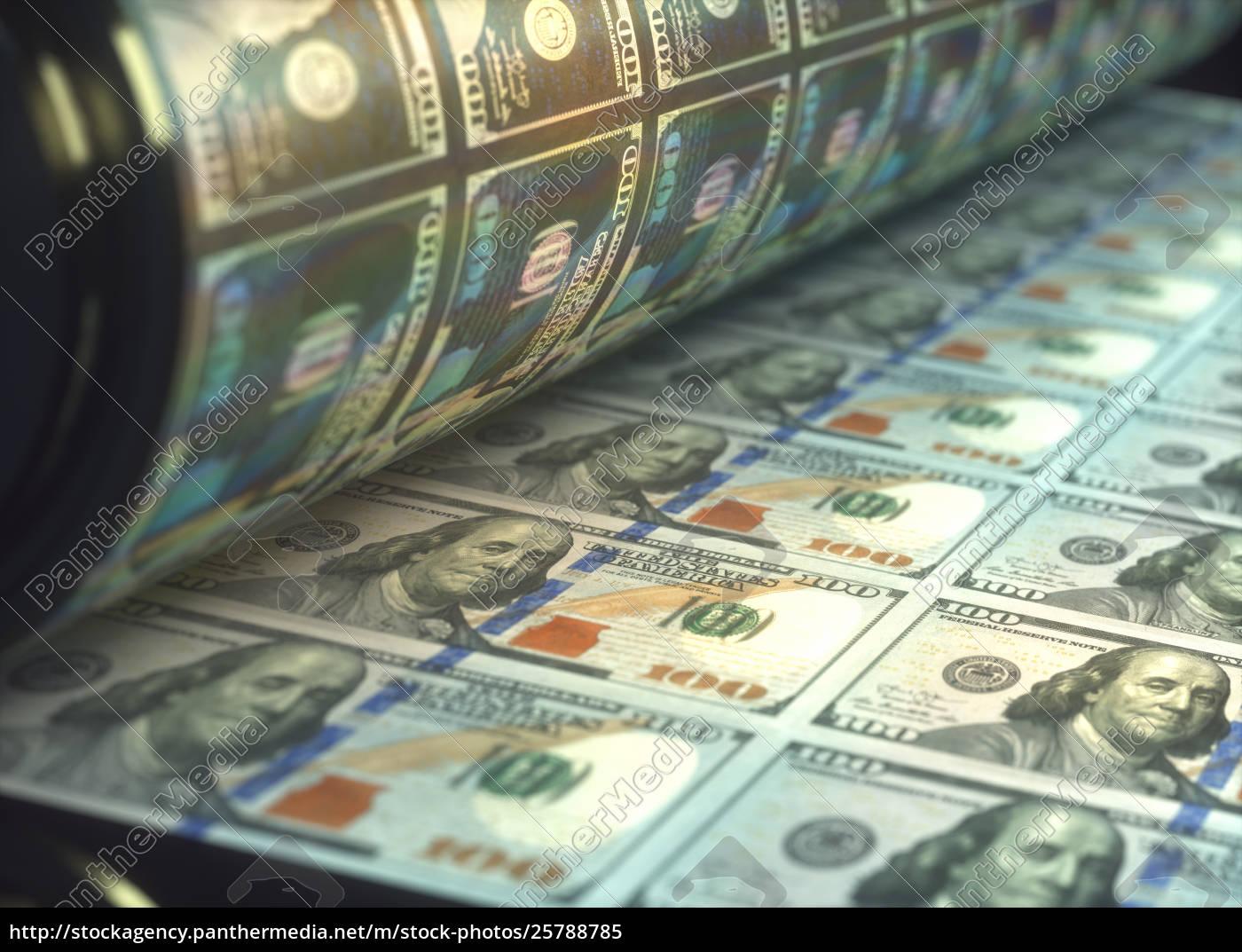 Printing Us Dollar Bills 25788785