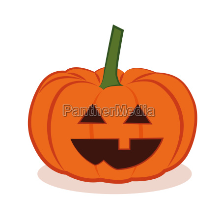 cute halloween pumpkins isolated on white