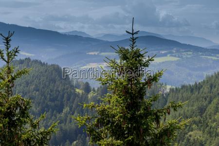 panoramic view of idyllic mountain landscape