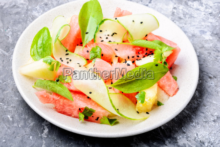 salad with watermelon and melon