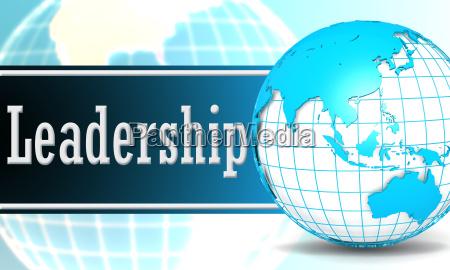leadership with sphere globe
