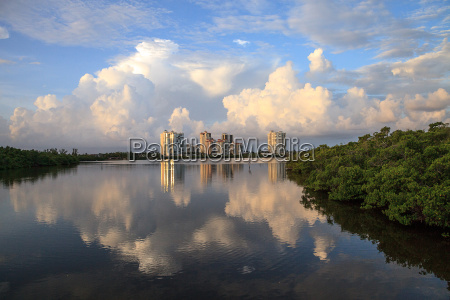 reflection of clouds in the water