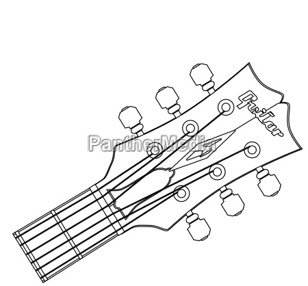 guitar headstock outline