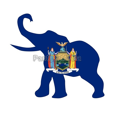 new york republican elephant flag