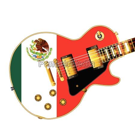 mexican flag guitar