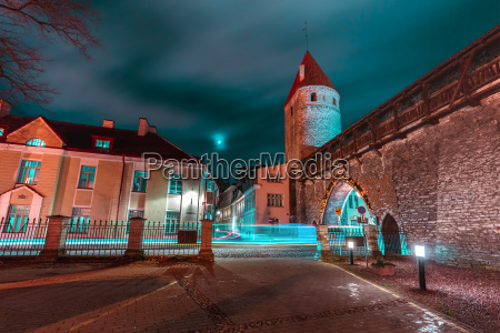 night old town of tallinn estonia