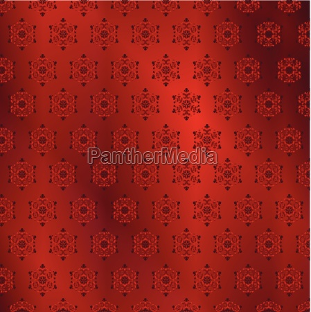 red snowflake pattern background