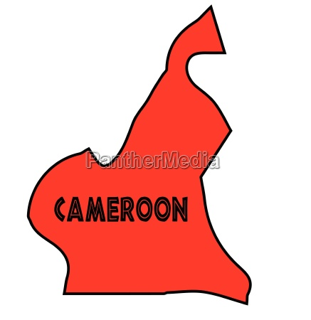 cameroon silhouette map