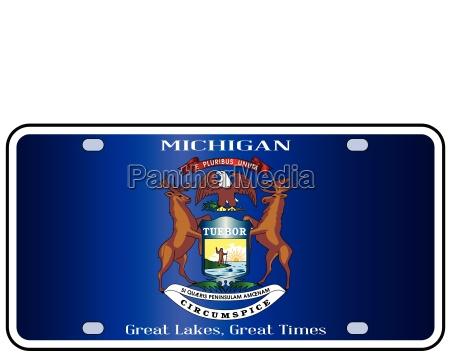 michigan license plate flag