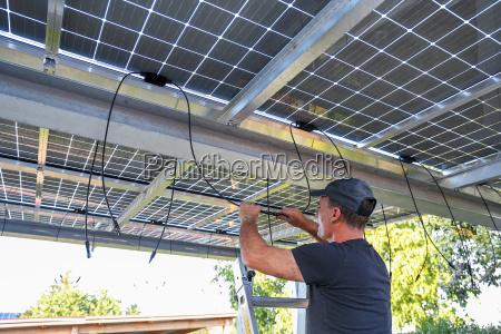 installation of semitransparent solar modules