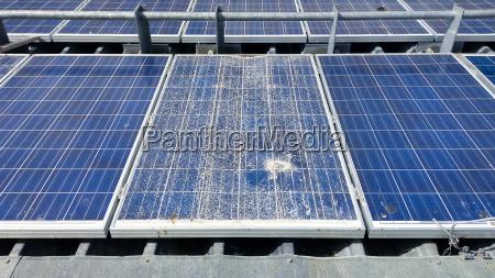 cracked solar modules