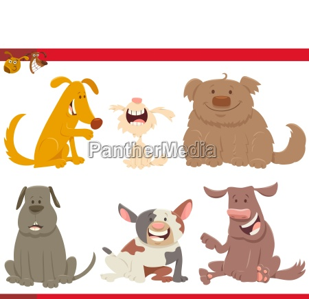 happy dogs or puppies cartoon characters