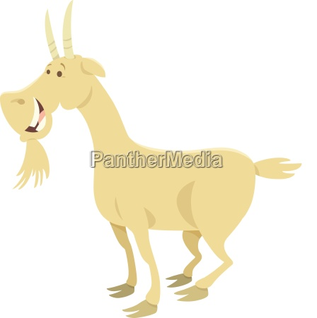 happy goat farm animal character