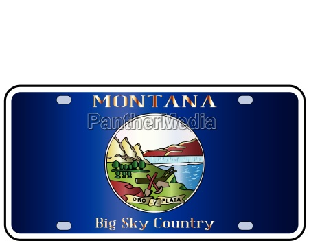 montana state license plate flag