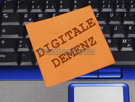memo note on notebook digital dementia