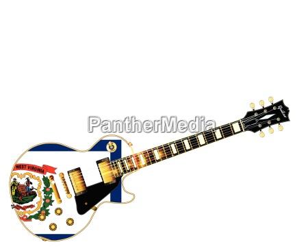 west virginia state flag guitar