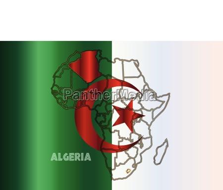 algeria isolated on map