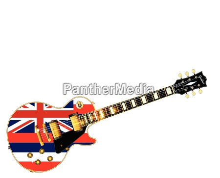hawaii state flag guitar