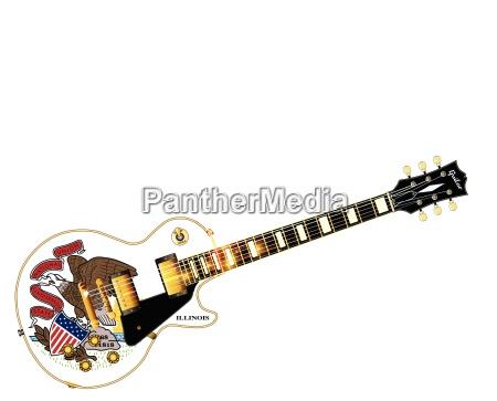 illinois state flag guitar